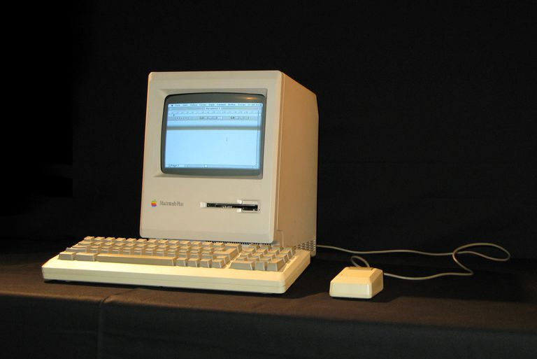 An old Macintosh Plus computer