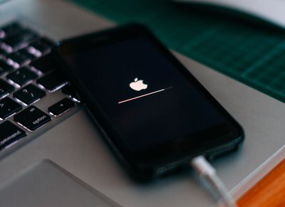 An iPhone upgrading its operating system.