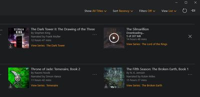 Audible Shows You the Status of Your Pending Downloads.
