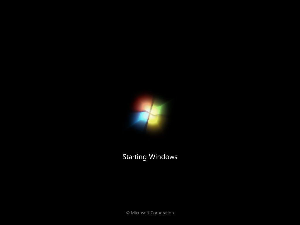 Screenshot of Windows starting up