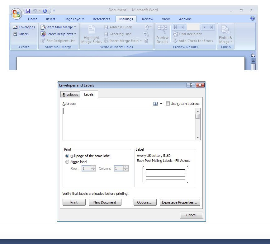 How To Print Labels From Word