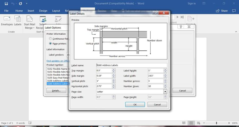 How to make labels from excel set up labels in word word label setup ccuart Gallery