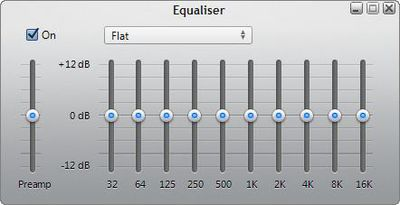 Using the Windows Media Player 12 Equalizer