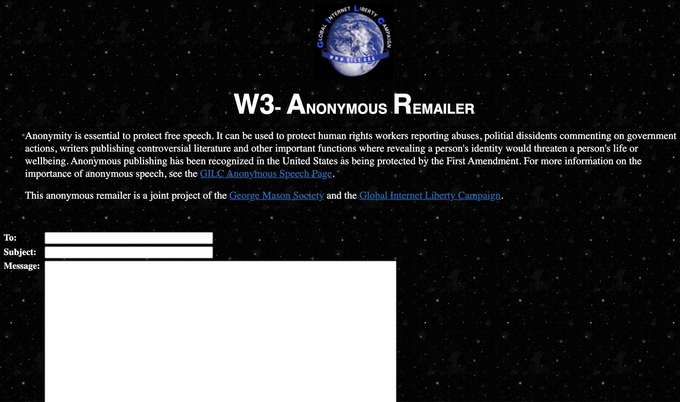 W3-Anonymous Remailer