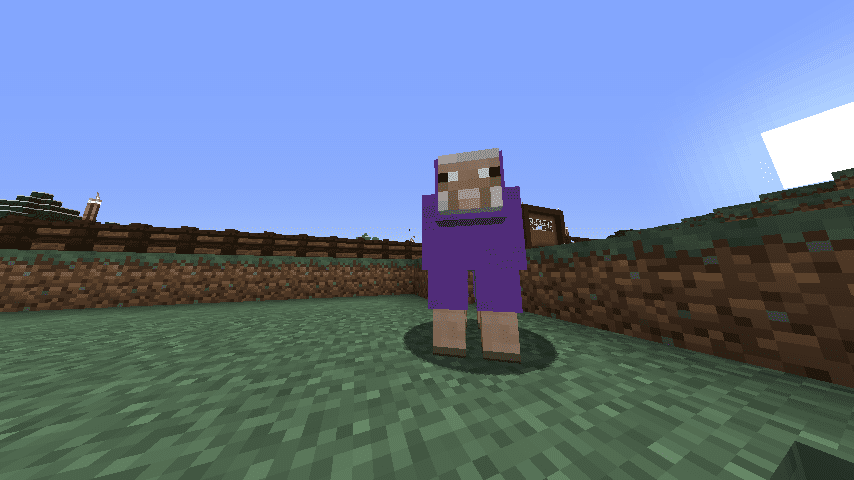 Minecraft rainbow sheep