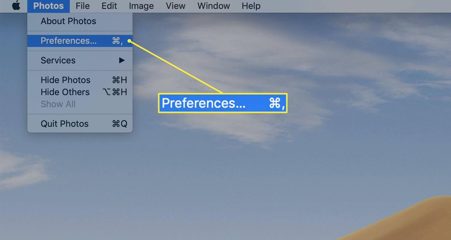 Path to Photos Preferences on a Mac
