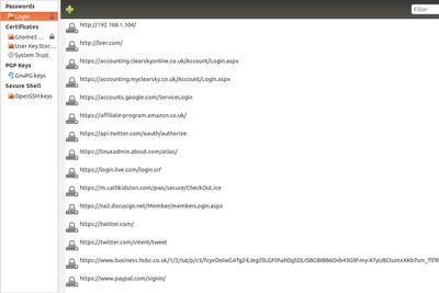 Ubuntu Seahorse screenshot