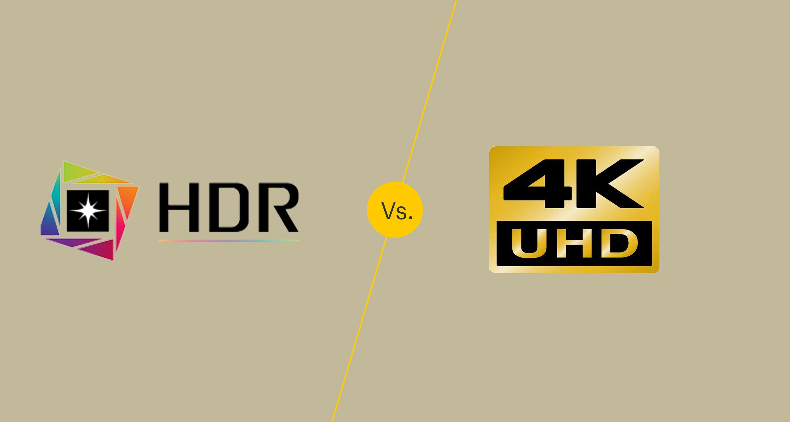 HDR vs. 4K: What's the Difference?