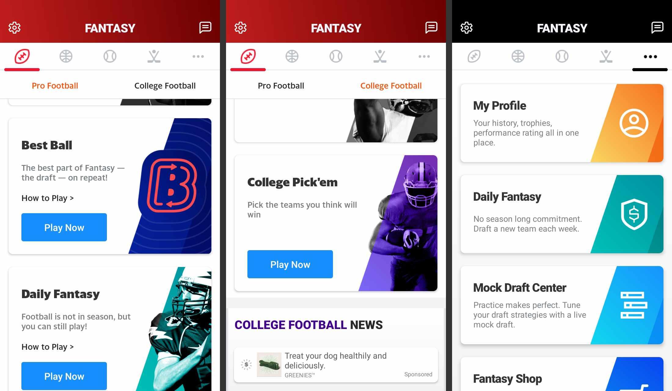Yahoo Sport Fantasy app for Anroid