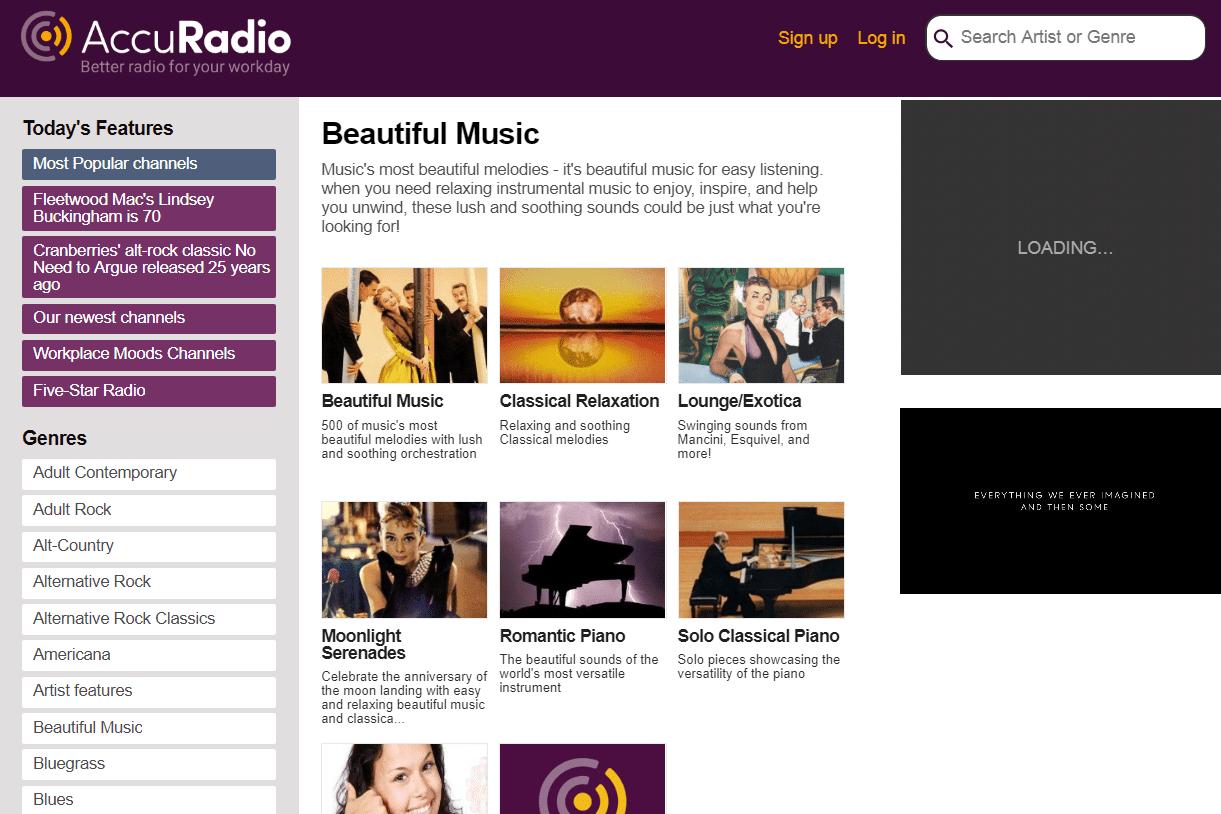 AccuRadio beautiful free music