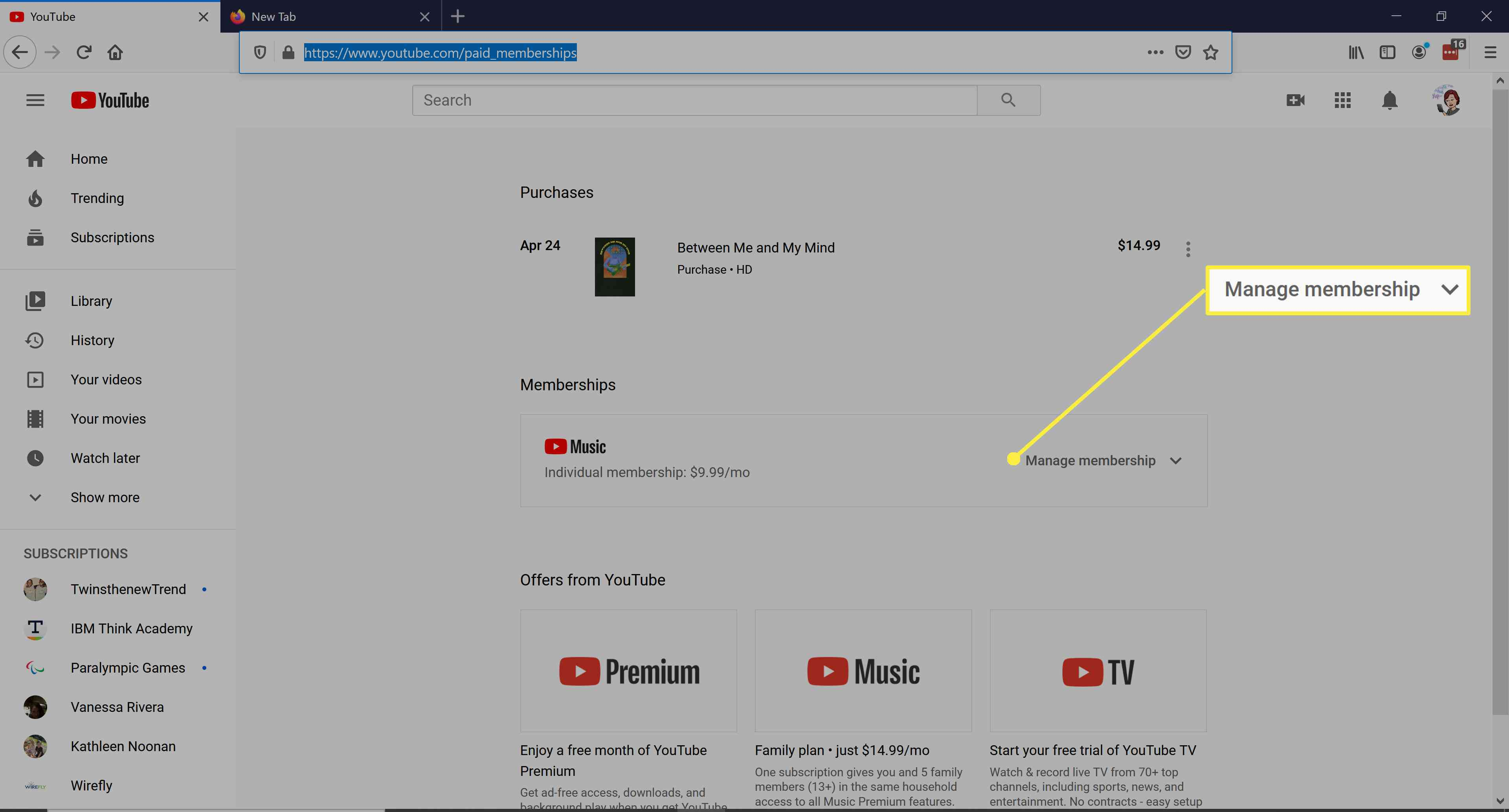 Pause or cancel your YouTube Premium subscription.