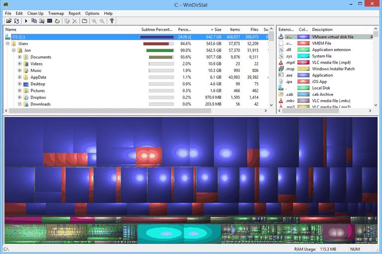 WinDirStat in Windows 8