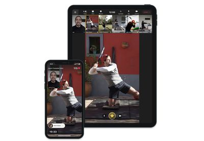 The Uplift coaching app displayed on an iPad and an iPhone.