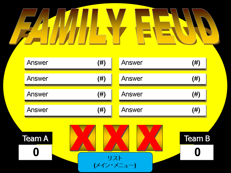 one round family feud powerpoint template