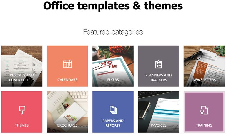microsoft office online templates