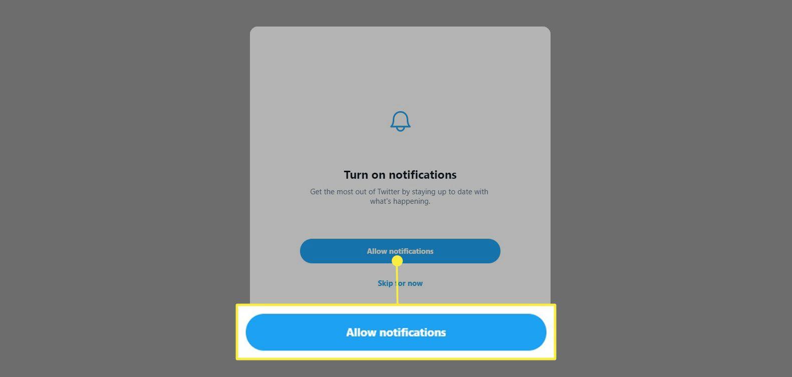 Twitter - Turn on notifications