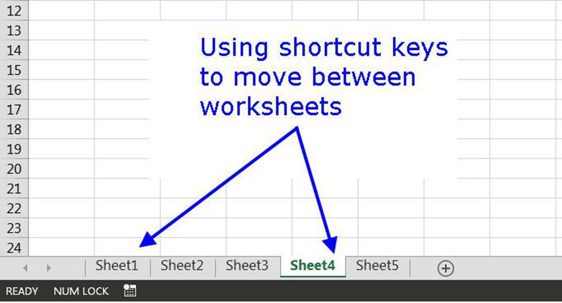 Shortcut to switch worksheet tabs in excel moving around and between worksheets in excel with shortcut keys ibookread Download