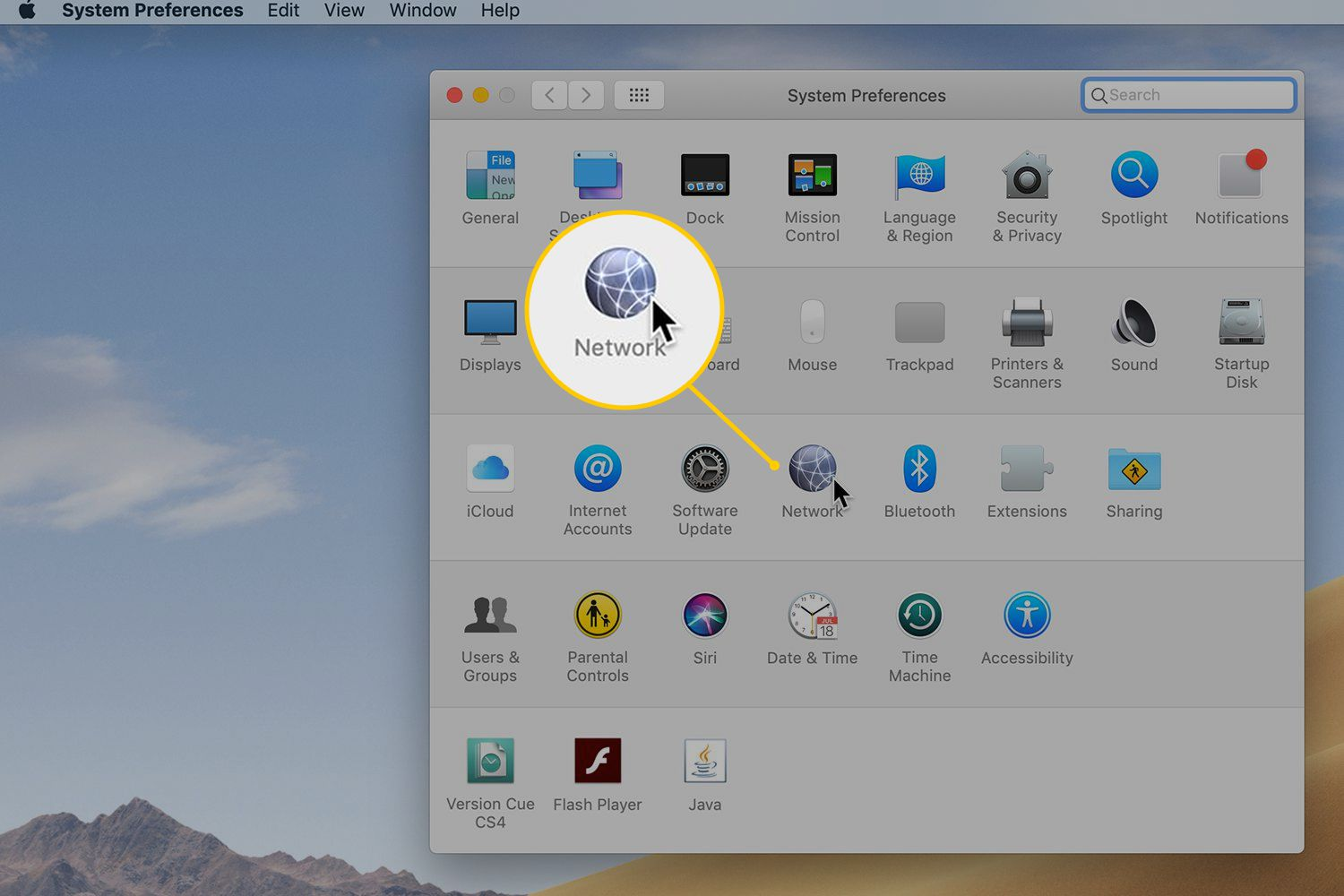 Network in macOS System Preferences