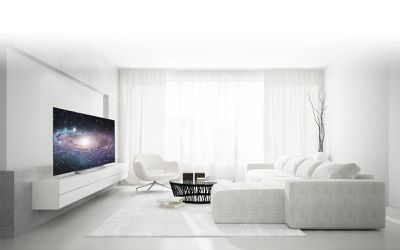 The LG C7 TV in a living room