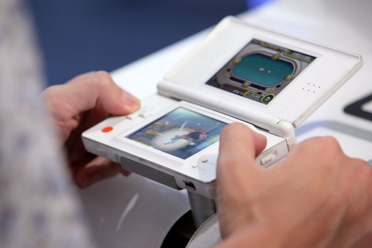 A Nintendo DS at Tokyo Game Show 2010