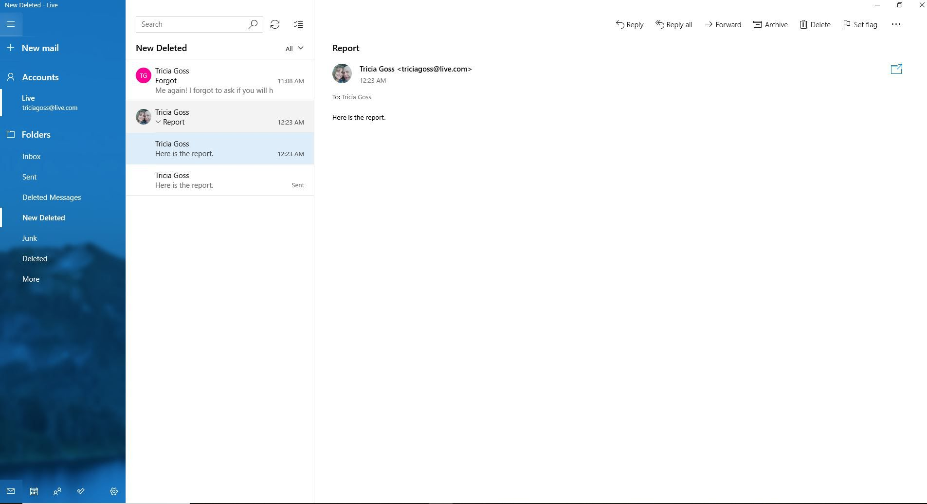Grouping Conversation Threads in Windows 10 Mail and Outlook