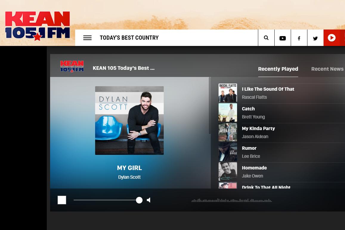 KEAN 105.1 FM online radio station