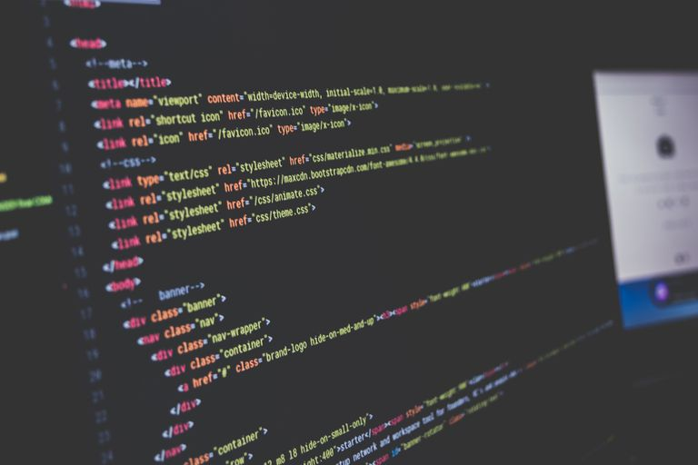 CSS code on a screen
