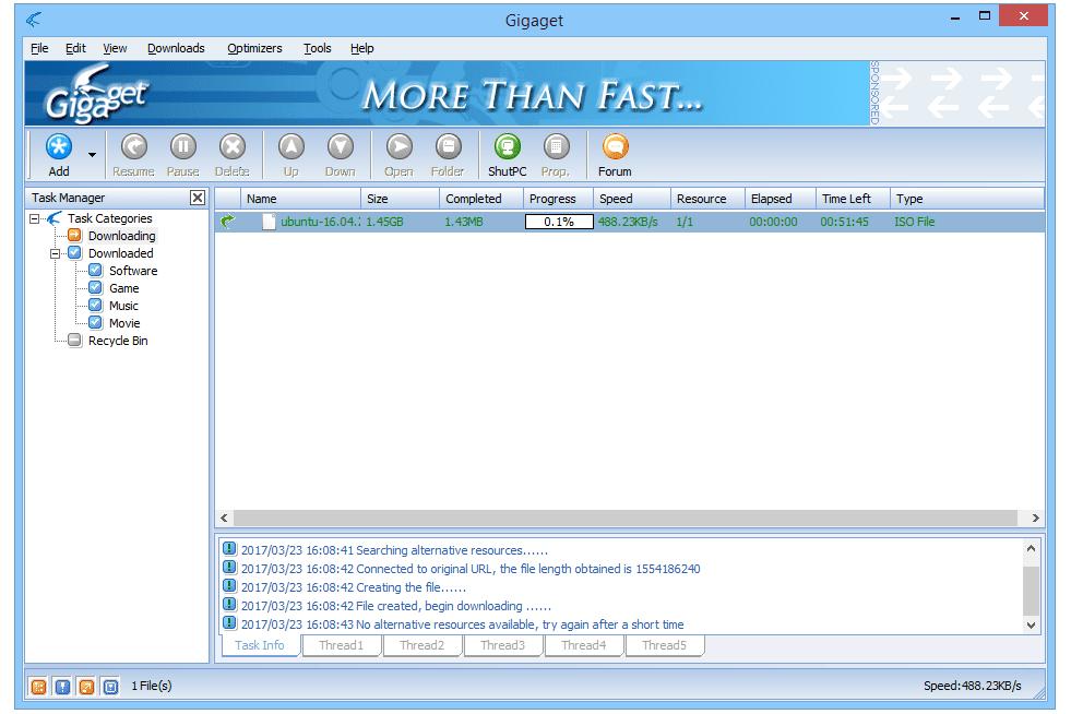 internet download manager has captured new file download