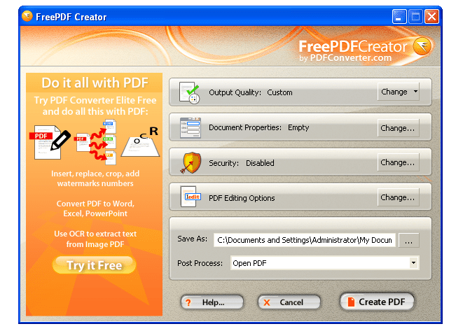 free tools to create pdf files