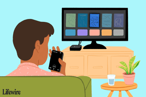 Person using Remote app with Apple TV