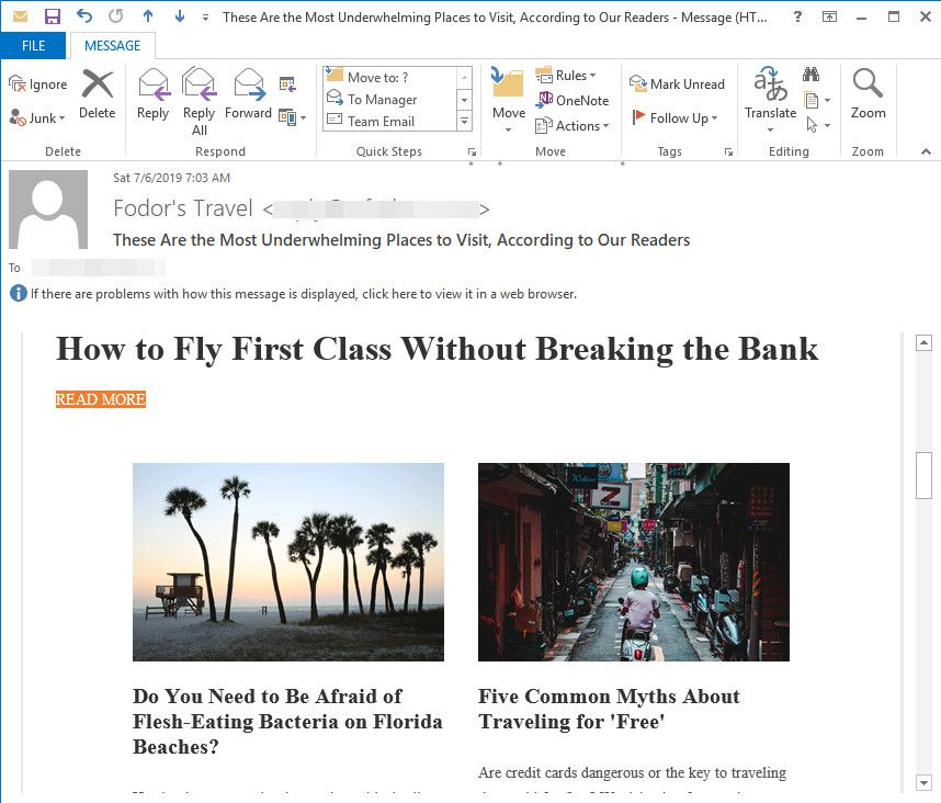 How to Always Open Emails in Maximized Windows