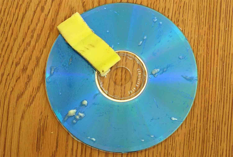 Fixing Scratched CD – Banana Peel