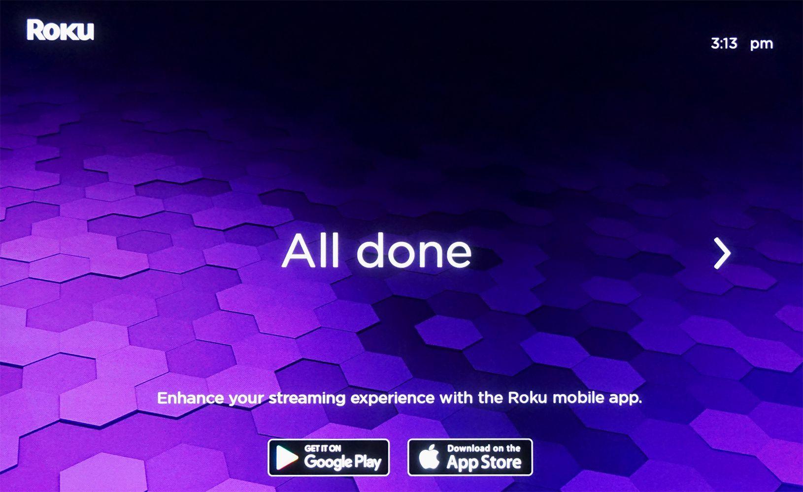 Roku Soundbar – Setup Done