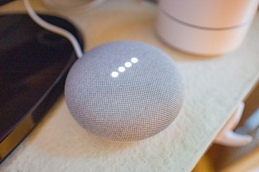 Google Home Mini on a table