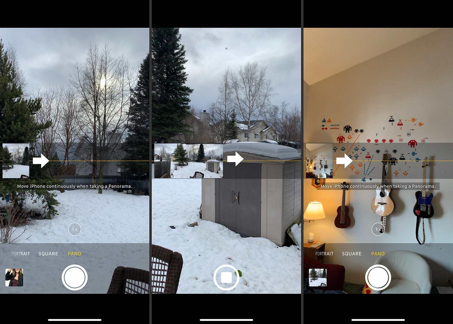 iOS Camera with panoramic shots