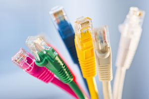 Ethernet Internet cables in seven colors