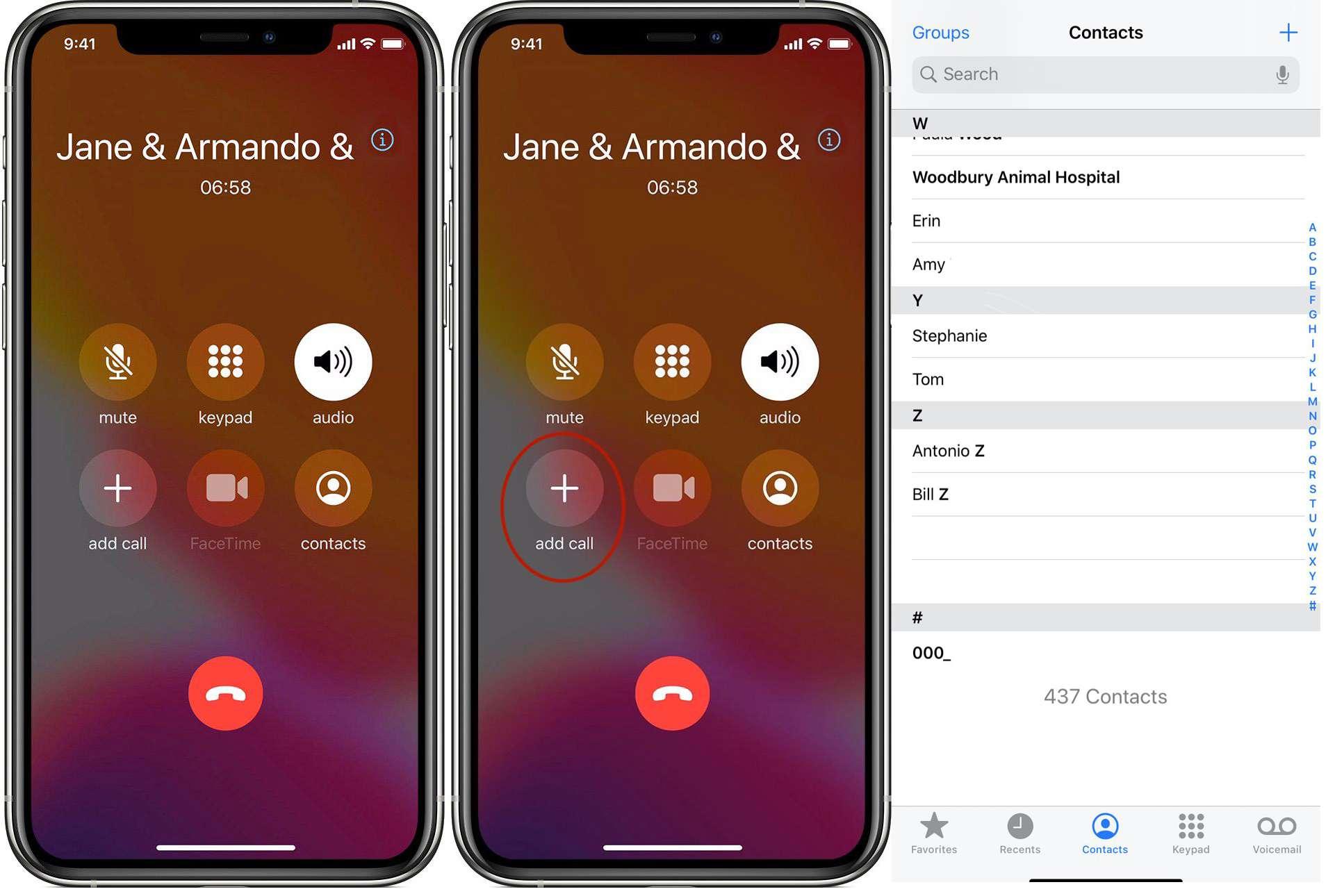 iPhone make call