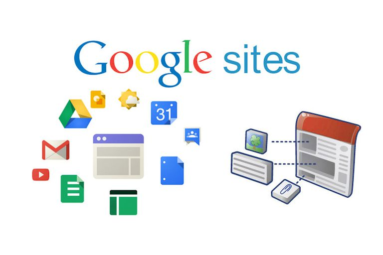 Google sites logo and features