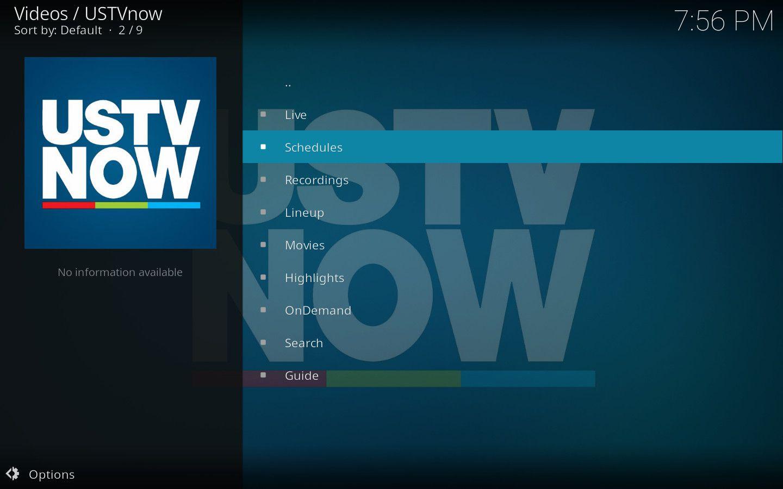 USTV Now Kodi Add-on