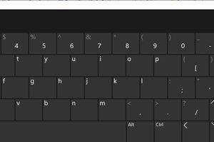 The Windows 10 on-screen keyboard.