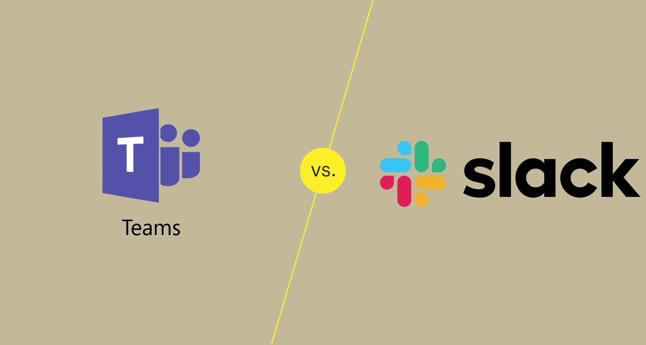 An illustration of Microsoft Teams versus Slack