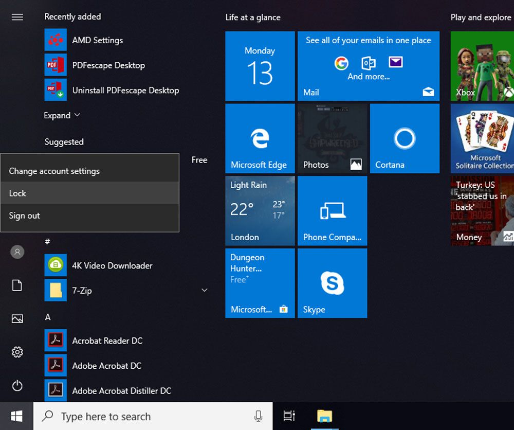 Protect Your PC With the Windows 10 Lock Screen