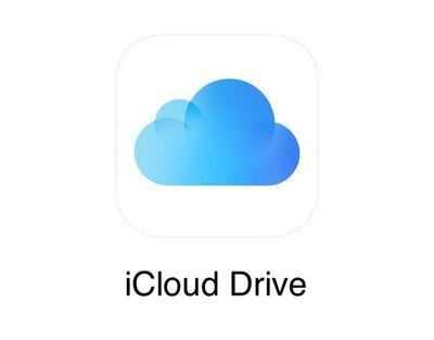 Screenshot of iCloud Drive logo
