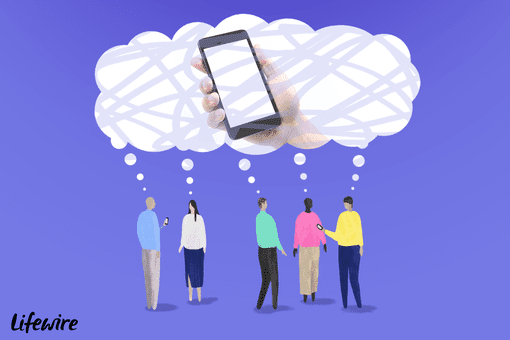 Illustration of people dreaming of the next iPhone