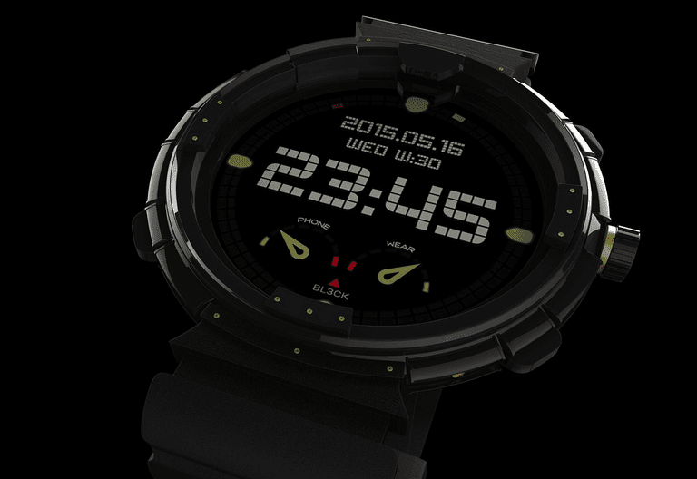 An image of a digital smart watch.