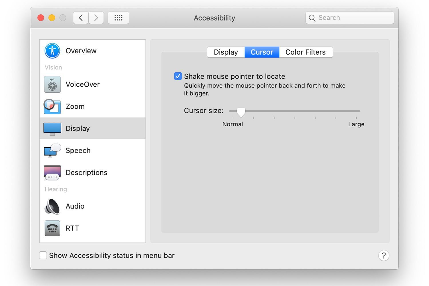 Make Your Mac's Mouse Pointer Bigger