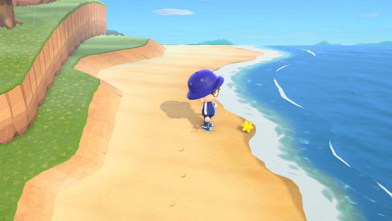 Star Fragments on a beach in Animal Crossing: New Horizons.