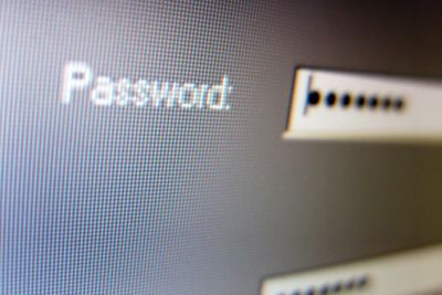 Password field on a computer