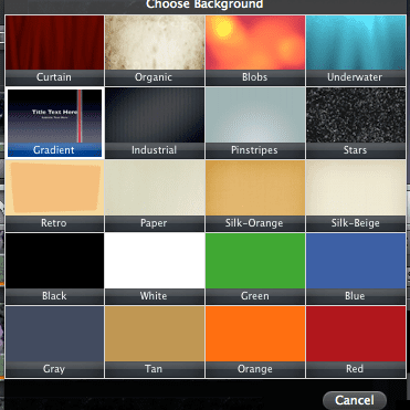 iMovie title backgrounds