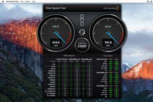 Blackmagic Disk Speed Test screenshot